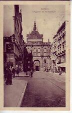 uralte AK Danzig = Langgasser Tor mit Stockturm 1913