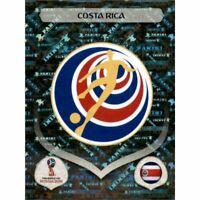 Panini WM 2018 392 Costa Rica World Cup WC 18Wappen Logo Glitzer Foil