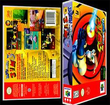 Earthworm Jim 3 - N64 Reproduction Art Case/Box No Game.