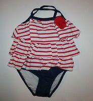 New Gymboree Girls July 4th Ruffle Layer One-Piece Swimsuit 4T NWT Swim Shop