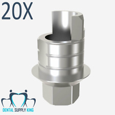 X 20 Anti Rotational Ti-Base Interface CAD CAM Internal Hex RP, Dental Implants