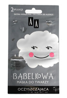 AA BUBBLE MASK CLEANING CLEARING AND ENERGY FACE MASK SENSITIVE & ALLERGIC SKIN