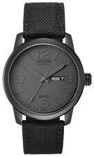 Citizen Eco-Drive Men's BM8475-00F Military Black Canvas Strap 42mm Watch