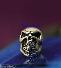 Bartperle Perle Silber Skull Totenkopf  925er Sterlingsilber Haarperle