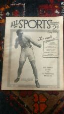 ALL SPORTS illustrated weekly.GEORGES CARPENTIER  ,BOMBARDIER BILLY WELLS  1919
