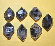 Collection Of 7 Double Terminated Crystals With Carbon Inclusions From Tibet
