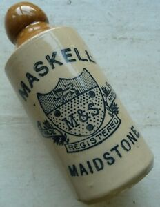 Very nice MASKELL MAIDSTONE Kent transferred ginger beer bottle C 1900s