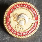 Vintage Pin - Shriners Enamel Masonic Medal Lapel Al Malaikah 1999 Millenium