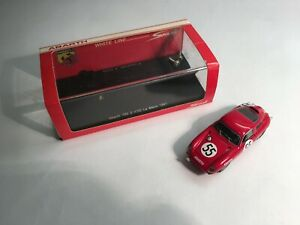 Abarth 700 S No. 55 Le Mans 1961 resin 1.43 model by Spark in red.