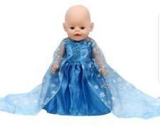 Puppenkleidung, Kleid, Prinzessin, 43 Cm, zb. Baby Born, blau, NEU