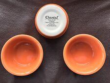 SeT Of 3 CHANTAL RAMEKIN 1/2 CUP .5  CUP .15 LITER Orange Halloween NEW
