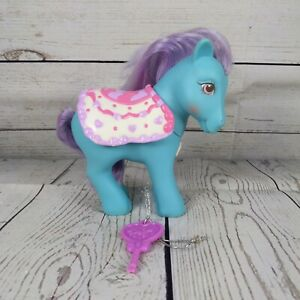 Rare My Little Pony G1 Vintage Secret Surprise Beauty pink & white Cape with key