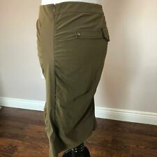 NWOT PHILOSOPHY DI ALBERTA FERRETTI Army Green Pendulum Skirt SZ IT 44/US 8-10