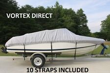 NEW VORTEX HEAVY DUTY FISHING/SKI/RUNABOUT/BOAT COVER 20' 21' 22' GREY/GRAY!
