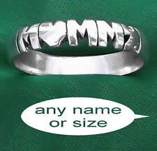 ANY NAME ;PERSONALIZED STERLING SILVER RING,CUSTOM BAND