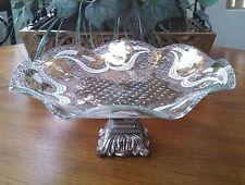 Rare Vtg Georges Briard? Round Ruffled Gold Iberia Pedestal Dessert Plate '50s