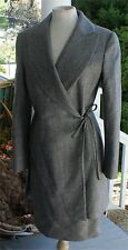 GIANFRANCO FERRE WOMENS 2 PC SKIRT  SUIT WOOL PLAID SIZE 42 EURO ITALY