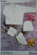 Baby Knitting Pattern 4 Ply-UKHKA 35