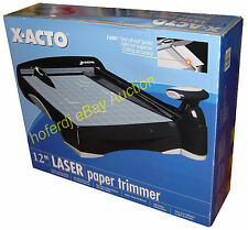 """X-Acto 12"""" Laser Paper Trimmer Plastic Base Laser Guillotine Paper Cutter *NEW"""