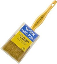 """Wooster 2.5"""" Flat Amber Fong Paint Brush Natural China Bristle Oil Paint Stain"""