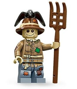 Lego collectible minifig series 11 Scarecrow + pitchfork suit lego city or farm