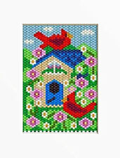 CARDINALS IN CHERRY BLOSSOMS PONY BEAD BANNER PDF PATTERN ONLY