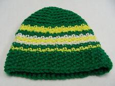 Vert/Jaune / Blanc - Tricoté à la Main - Tout-Petit Taille Unique - Bas
