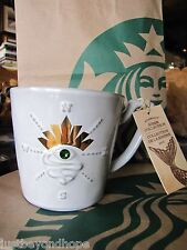 2014 Starbucks Anniversary Compass Siren's Eye Green Swarovski Crystal Mug NWT