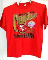 NFL San Francisco 49ers Mens XL VTG Super Bowl XXIX Champions Graphic SS TShirt