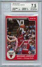1984-85 Star #101 XRC Michael Jordan TRUE Rookie HOF Bulls BGS 7.5 (3/14/21 GP)