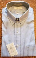 Meeting Street Gentlemen Clothiers Mens Blue Pinstripe Shirt SZ 15 1/2 33- USA