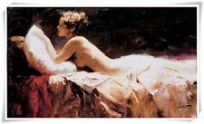 """Pino Daeni,Hand-painted Portrait oil Painting On Canvas 24x36""""#27/Unframed"""