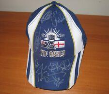 England 2011 Test match winning team signed official Ashes Cap (Blue) + COA