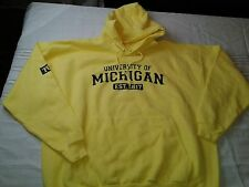 University of Michigan Wolverines Yellow Hoodie XXL Big New Without Tags