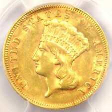 1878 Three Dollar Indian Gold Piece $3 - PCGS AU Details - Rare Coin - Near MS!