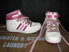 Cool Adidas Hi Tops White & Pink Trainers Size 2