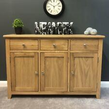 New Oak Sideboard Large / Cupboard / Solid Wood / Storage Dresser / Light Tone