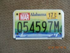 2017 ALABAMA MOTORCYCLE/MOPED LICENSE PLATE   #054597M Heart of Dixie