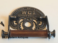 Victorian Toilet Roll Holder WC1 Vintage Silver Grey Antique Novelty Unusual Old