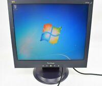 "ViewSonic VA705b 17""   LCD Flat Panel Monitor Display VGA w/ Cords Grade A"