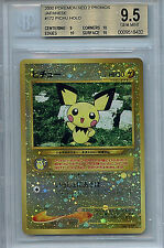 Pokemon 2000 Japanese Neo 2 Gold Holofoil Pikachu #179 BGS 9.5 Gem Mint 8432