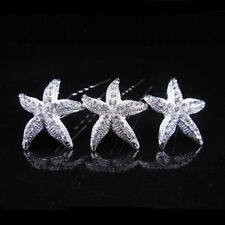 Wedding Bridal Hairpin Jewelry Starfish Crystal Rhinestone Hair Clip Good Sell