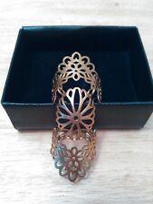 Avon Stamped Filigree 3-Part Ring, goldtone, adjustable, new