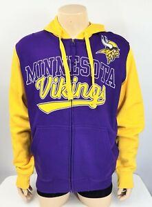 NFL Minnesota Vikings Front Zip Hoodie Jacket, NWT, Sz M