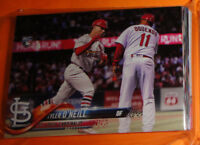 ST LOUIS CARDINALS COMPLETE TEAM SET, 2018 TOPPS SERIES 1, 2 AND UPDATE