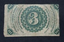 Fractional Currency 1863 Third Issue 3c Three Cents Note