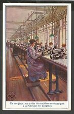 Longines Watch, Watch Factories in the Past, 6 Old Advertising Postcards
