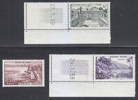France 1959 MNH Mi 1232-1234 Sc 907-909 Elysee Palace,Evianles Bains,Sens River