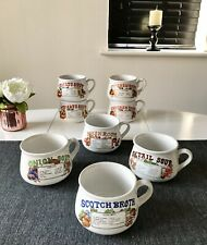 Set Of 8 Vintage Dat'l Do It Recipe Soup Mugs With Handles