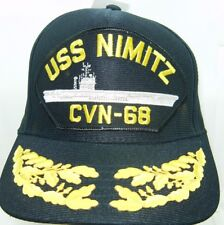 US NAVY CAP ORIGINAL USS NIMITZ CVN-68 Made in USA Double Eggs One Size Fits All